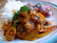 Prawn and Pepper Curry - frugal feeding Prawn Dishes, Curry Dishes, Spicy Recipes, Seafood Recipes, Cooking Recipes, Prawn Curry, Frugal Meals, Fabulous Foods, Fish And Seafood