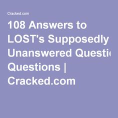 108 Answers to LOST's Supposedly Unanswered Questions | Cracked.com
