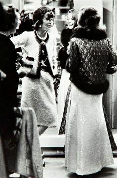 Circa 1963 -  Coco Chanel and Romy Schneider by Milton H. Greene