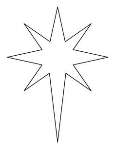 Printable Bethlehem star pattern. Use the pattern for crafts, creating stencils, scrapbooking, and more. Free PDF template to download and print at http://patternuniverse.com/download/bethlehem-star-pattern/.