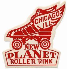 Vintage roller skate labels of all sorts.
