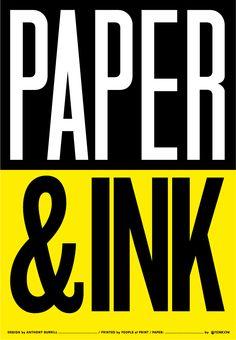 Anthony Burrill - Two colour screen print forFedrigoni, printed by...