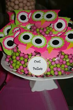 Catching up with the Cross Family: Look Whooo's 1 (Part II) Owl Parties, Owl Birthday Parties, Baby Birthday, Birthday Ideas, Sleepover Party, Slumber Parties, Baby Shower, First Birthdays, Goodie Bags