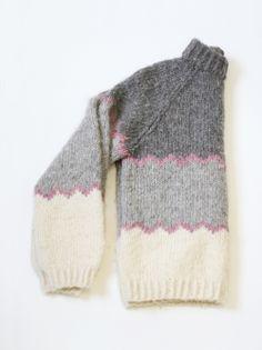 Vintage Hand-knit Chevron Sweater — Everything Golden