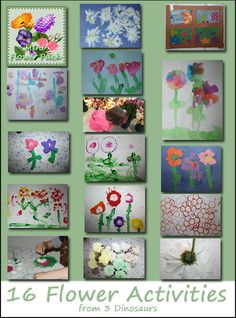 16 Flower Activities from 3 Dinosaurs