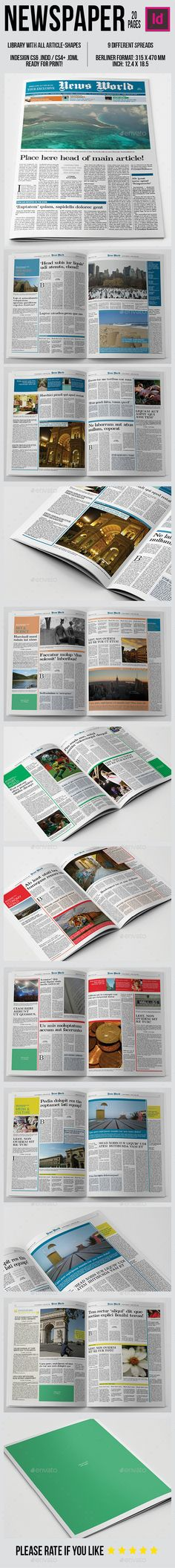 Berliner NewspaperMagazine Template  Newspaper Template And
