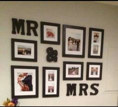 Mr and Mrs picture wall