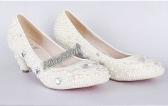 kitten heels, Wedding Shoes. low heel wedding shoes Closed Toe ivory Pearl Shoes, Bridal ivory Shoes Heels. on Etsy, $130.00