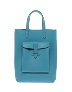French Connection Front Pocket Leather Shopper