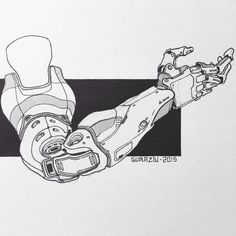 """edonguraziu: """"Here are a couple of sketches I did over the past months. Bionic Arms and robotics. ~ EDONGURAZIU """""""