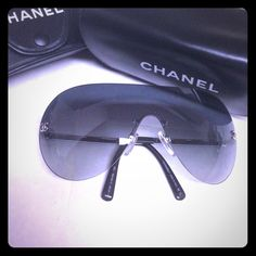 Authentic CHANEL rimless sunglasses. Authentic CHANEL rimless sunglasses. LIMITED TIME $10 off on the price for these CHANEL shades!!!  Hurry!! CHANEL Accessories Sunglasses