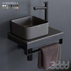 Bathroom Under Stairs, Wood Floor Bathroom, Wc Bathroom, Bathroom Vanity Units, Bathroom Design Luxury, Bathroom Design Small, Bad Inspiration, Bathroom Inspiration, Steel Furniture