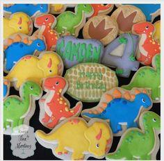 "Tina Martinez on Instagram: ""Happy birthday Camden! Dinosaur cookies to match his cake topper set. #cookies #customcookies #decoratedcookies #sugarcookies…"""