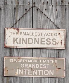 Look what I found on #zulily! 'Act of Kindness' Wall Sign #zulilyfinds