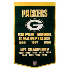 Green Bay Packers Wool Dynasty Banner < Packers pride displayed everywhere! #UltimateTailgate #Fanatics