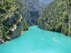 Gorges du Verdon, France - The Grand Canyon of France Places Around The World, Oh The Places You'll Go, Places To Travel, Travel Destinations, Places To Visit, Around The Worlds, Dream Vacations, Vacation Spots, Moustiers Sainte Marie