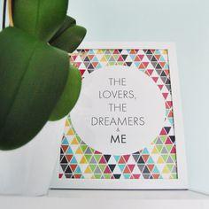 Color Pop Trangular Dreamers & Me Print // Rainbow by cristinrae
