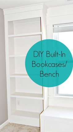 DIY Budget Friendly Built-In Bookcases & Bench Project! DIY Budget Friendly Built-In Bookcases & Bench Project! Bookcase Bench, Built In Bookcase, Diy Bookcases, Bedroom Decor On A Budget, Living Room Decor, Bedroom Ideas, Dining Room, Living Spaces, Diy On A Budget