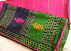 Pure Silk Sari  Vintage Handloom Saree  Indian by theDelhiStore
