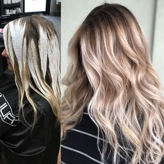 "1,364 Likes, 14 Comments - Amy (@camouflageandbalayage) on Instagram: ""Application and After Root Color Paul Mitchell The Color 6Pn and 7A with 10 vol Painted using…"""