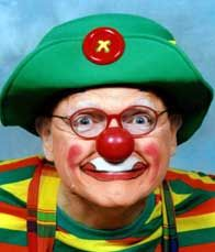 Dr. Richard Snowberg as Snowflake Junior http://famousclowns.org/famous-clowns/biography-of-richard-snowberg-aka-snowflake-caring-clown-founder-of-clown-camp/