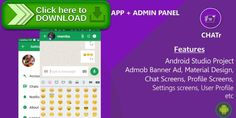 [ThemeForest]Free nulled download Chatr - Material Design Chat App + Admin Panel + Admob Ads from http://zippyfile.download/f.php?id=40236 Tags: ecommerce, admin panel, admob, chat app, communication, full app, material design, messaging, messenger, php mysql, whatsapp