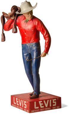 Levi Strauss Saddleman Cowboy Store Display 1940's   eBay