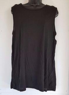 Sun & Shadow Womens Sleeveless Braided Back Tunic Size Medium #SunShadow #Tunic