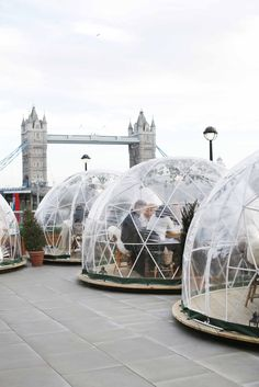 Dine in an igloo overlooking Tower Bridge! I'm not sure if you've seen this place on social media but it's called Coppa Club and it's located right next to Tower of London.