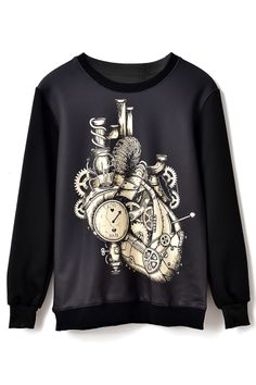 Mechanism  cardiac Pattern Sweatshirt