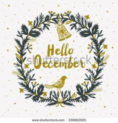 stock-vector-hello-december-print-design-339882605.jpg (450×470)
