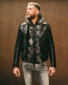 Pierre Balmainleather jacketjeans. Duvetica down jacket. Shop allNordstrom Men's Designer Collections. PhotographyKyle JohnsonStylingAshley HelveyModelJoel Carlson