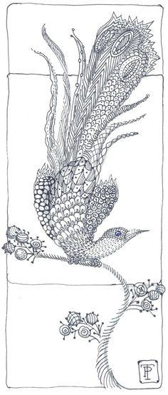 Peggy Turchette : Zentangle Bird