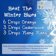 """Beat the winter blues"" essential-oil diffuser blend"