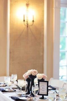 candlesticks as floral centerpieces