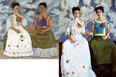 """The Interpretation: """"The Two Fridas"""" remake by Claire Ball"""