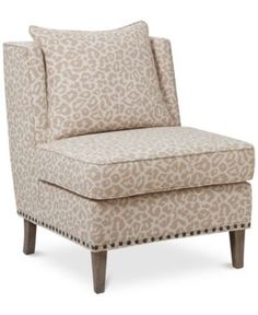 Cameron Fabric Accent Chair, Quick Ship - Tan/Beige