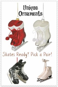 Tree ornaments for skiing, ice hockey, figure skating, even golf. Get unusual and unique tree ornaments from Smash Gifts. Hockey Decor, Hockey Room, Xmas Ideas, Holiday Ideas, Gift Ideas, Christmas Activities For Kids, Kids Christmas, Ice Skating, Figure Skating