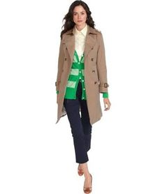 BROOKS BROTHERS Petite Cotton Trench Coat
