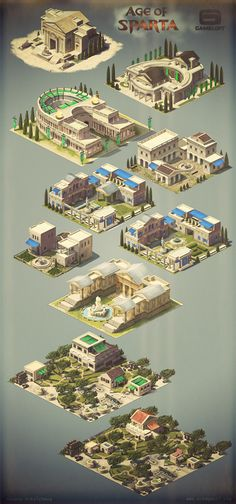 Building concepts for Gameloft on Behance