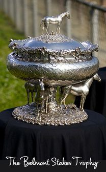The four trophies of the USA Triple Crown: Kentucky Derby, Preakness Stakes, Belmont Stakes and Triple Crown. Derby Time, Derby Day, Horse Racing Party, The Belmont Stakes, Preakness Stakes, The Great Race, Triple Crown Winners, Run For The Roses, Sport Of Kings