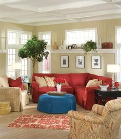 Image result for red sofa living room