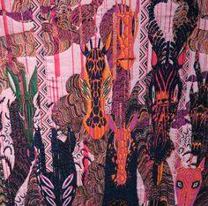 """""""Woolgathering"""" de nieuwste tentoonstelling van Finse artiest Kustaa Saksi wordt vanaf 26 maart getoond in Usagi Gallery, Hong Kong. Zijn surrealistische, unieke tapijt-kunstwerken, zijn gemaakt op de jacquardmachine in het TextielLab van het TextielMuseum. De stukken zijn gemaakt van mohair, merino en alpaca wol, gemixt met katoen en synthetische materialen zoals rubber, fosforhoudende en metallic acryle garens."""