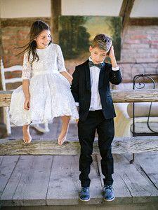 Burda Style: Kinder - Mädchen - Festliche Mode - Spitzenkleid mit Unterrock - Bubikragen