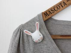 bunny pin by Sweet Bestiary... too cute & handmade!