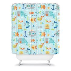 Wendy Kendall Sealife Shower Curtain