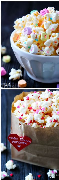Valentine's Popcorn - 14 Valentine's Day Treats to Make for Your Loved Ones. Valentine's theme party catering ideas