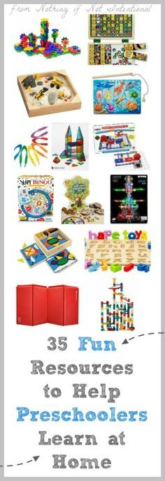 Ideas for STEM, the arts, literacy, and motor skills to support your home preschool and make learning fun for preschoolers.