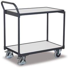 GTARDO.DE:  ESD-Tischwagen, 2 Ladeflächen, Tragkraft 250 kg, Ladefläche 1000 x 600 mm, Maße 1130 x 624 x 980 mm, Rad 125 mm 278,00 €
