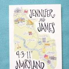 Fun and personal custom map save the dates